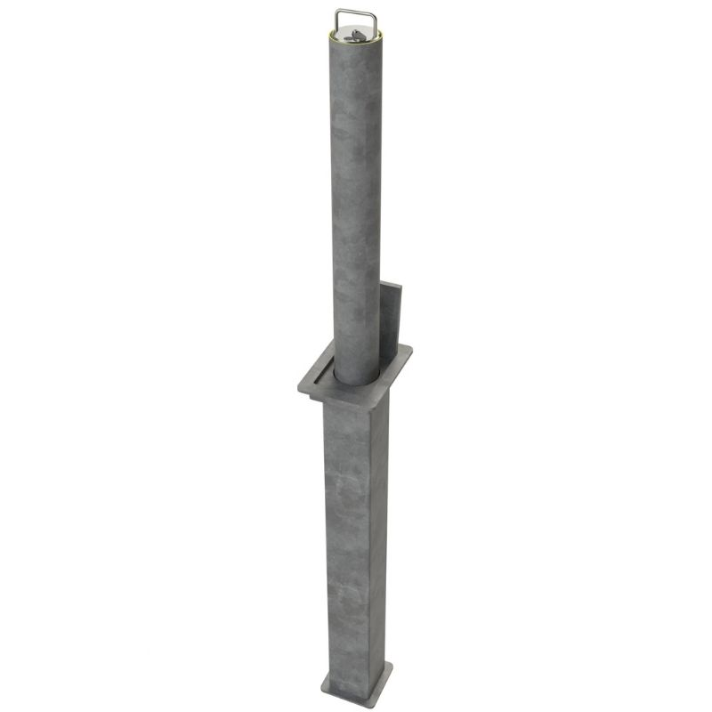 76mm Diameter Steel Telescopic Bollard