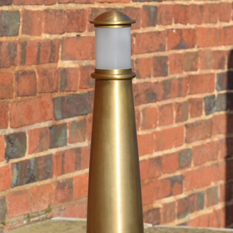Beacon Illuminated Brass Bollard