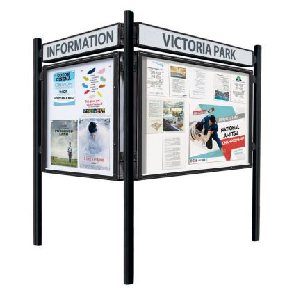 """2000"" Single-Sided Notice Board - Anodised"