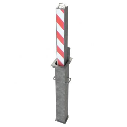 90x90mm Heavy Duty Steel Telescopic Bollard