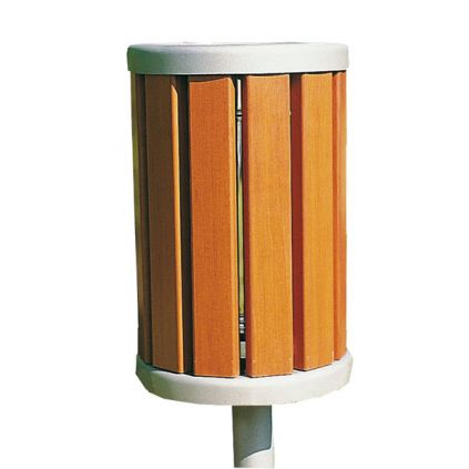 Barcelona Litter Bin - Timber