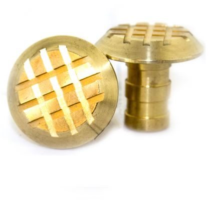 Cross Grip Brass Paving Stud