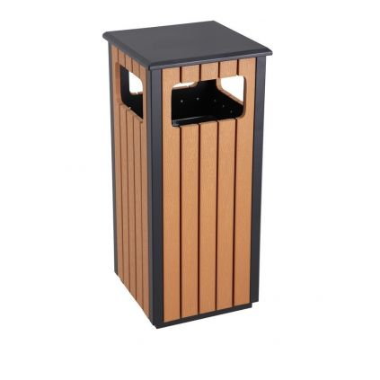 Hector Square Wood Effect Waste Bin