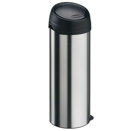 40 Litre Soft Touch Bin Stainless Steel