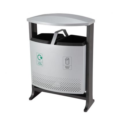 Achilles Outdoor 2 Compartment Bin