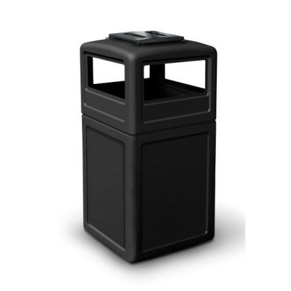 140 Litre Litter Bin with Hooded Ashtray Top