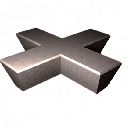 Cross Concrete Bench
