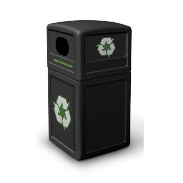 140 Litre Square Recycle Bin with Dome Lid