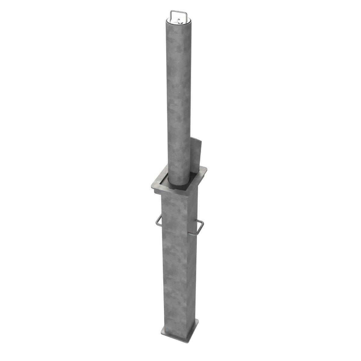Lift Assist 114mm Diameter Steel Telescopic Bollard