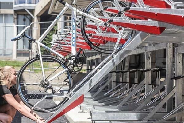 Gas Assisted Double Decker Bike Racks