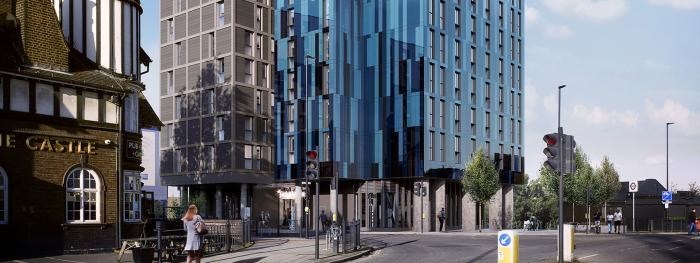 Space saving cycle storage for new student accommodation in London