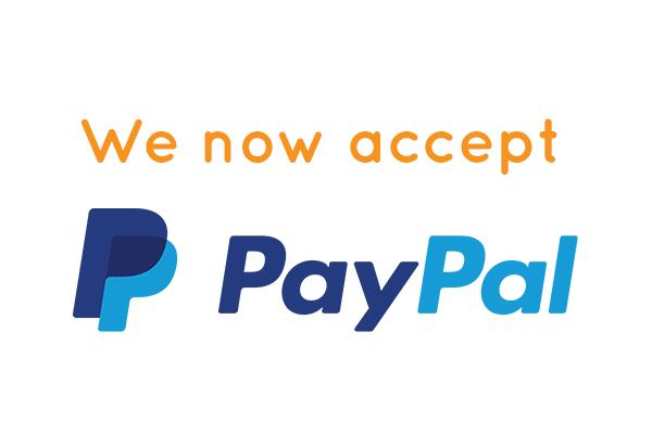 We Now Accept PayPal