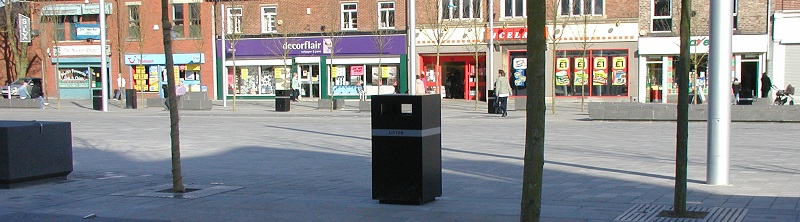 Steel Litter Bins
