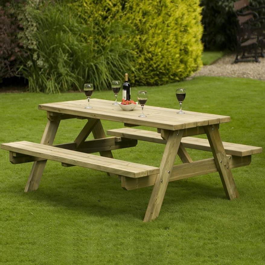 Dudley A Frame Timber Bench
