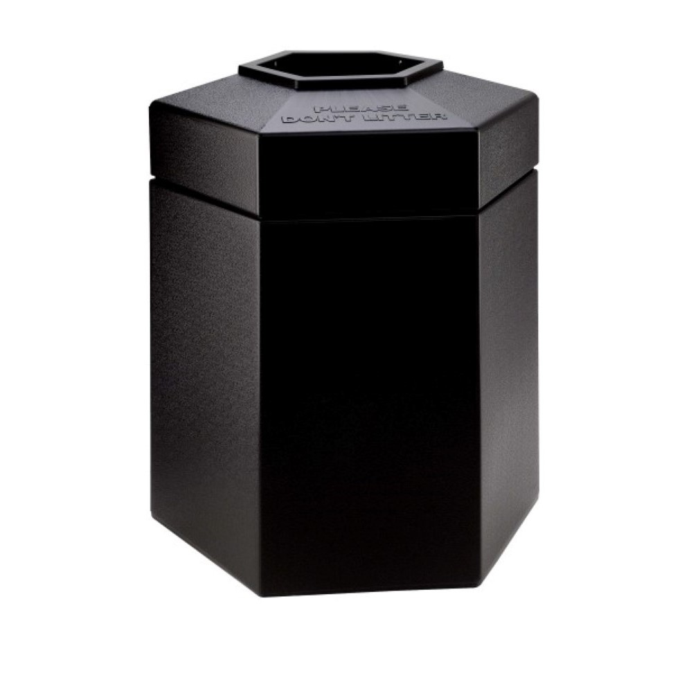 Hexagon shaped bin with 170 litre capacity