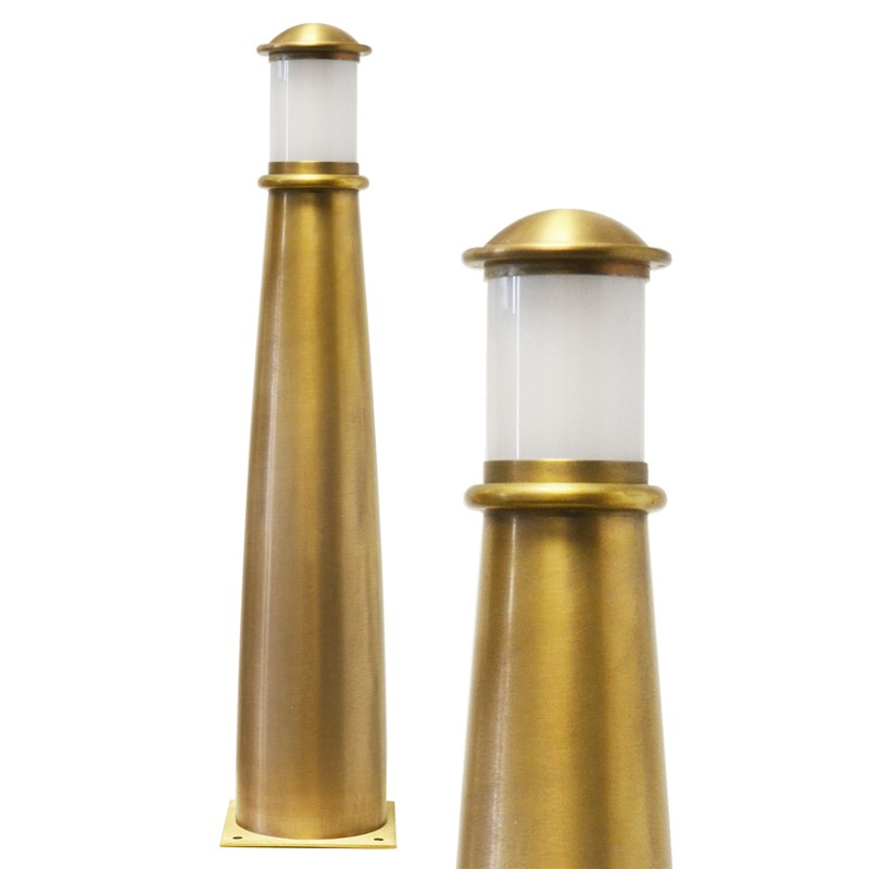 Beacon Illuminated Brass Bollard