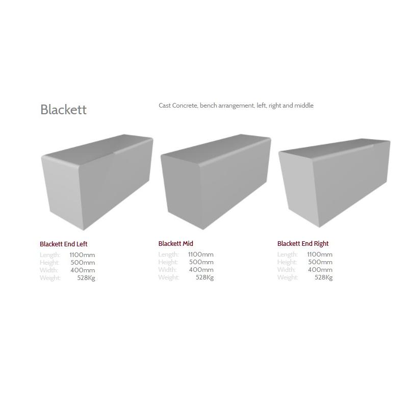 Blackett Concrete Bench