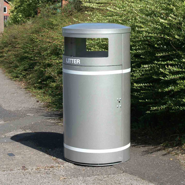 Circular Closed Top Litter Bin