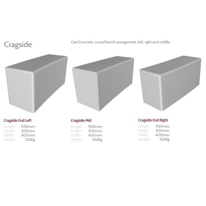 Cragside Concrete Bench
