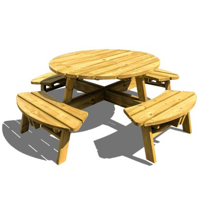 Moko Round Timber Picnic Bench