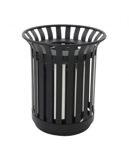 Outdoor Open Top Steel Waste Bin 69 Litres