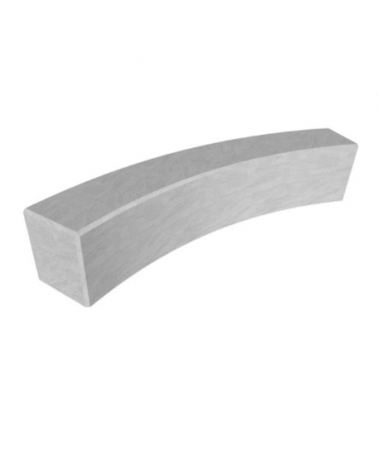 Consett Curved Concrete Bench