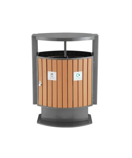 Ajax 2 Compartment Outdoor Bin