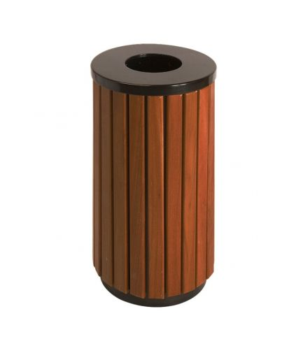 Open Top Wood Effect Waste Bin