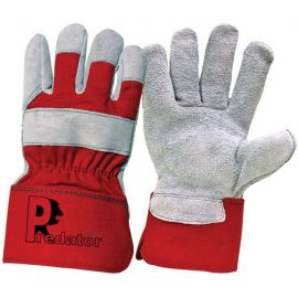 Pr Red Power Leather Rigger Glove