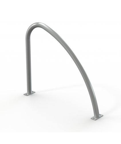 Fin Shaped Cycle Stand Stainless Steel - Surface Mounted
