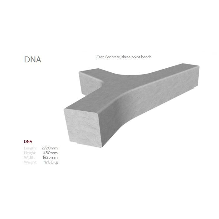 DNA Concrete Bench