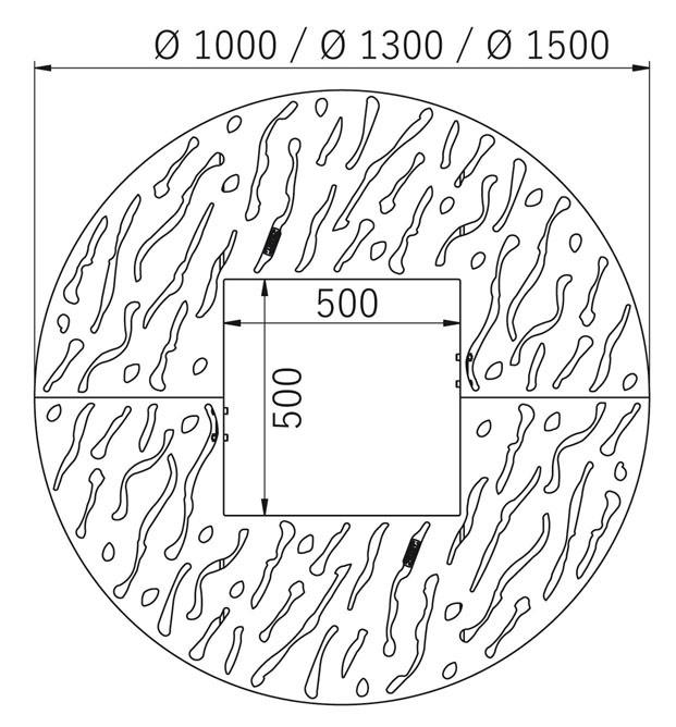 Venice Round Tree Grille (Ø1300 mm)