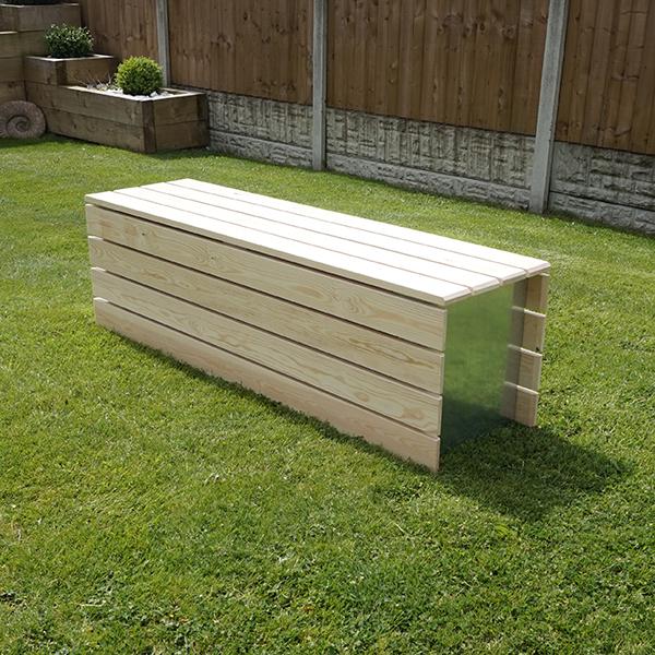 Modular Accoya Wood Bench