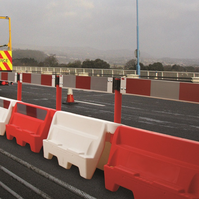 RoadBloc Barrier White