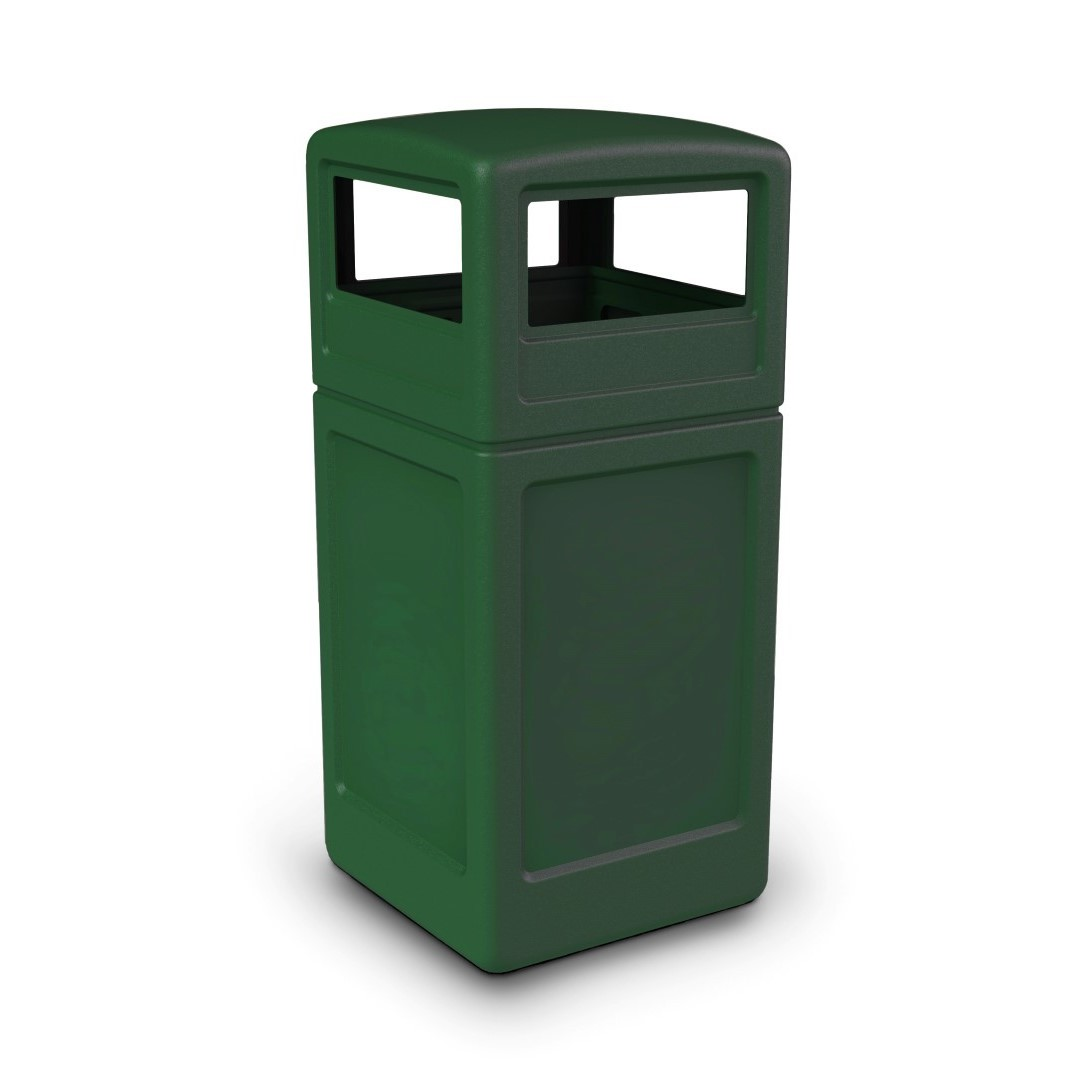 140 Litre Square Litter Bin with Dome Lid