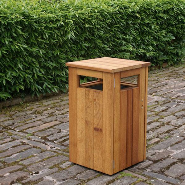 Iroko Hardwood Litter Bin