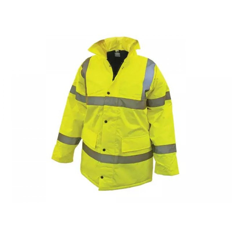 Yellow 2 Band & Brace Hi-Viz Coat